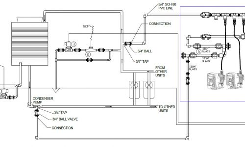 System design drawings for facilitation of new equipment installation